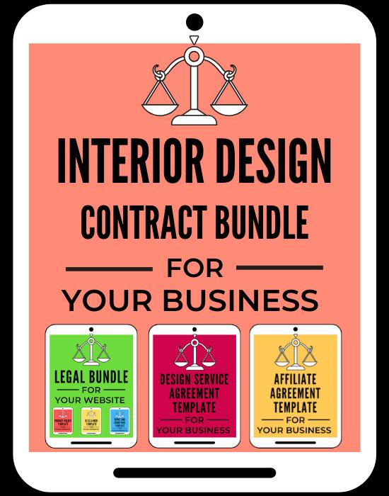 Interior Design Contract Bundle For Designers