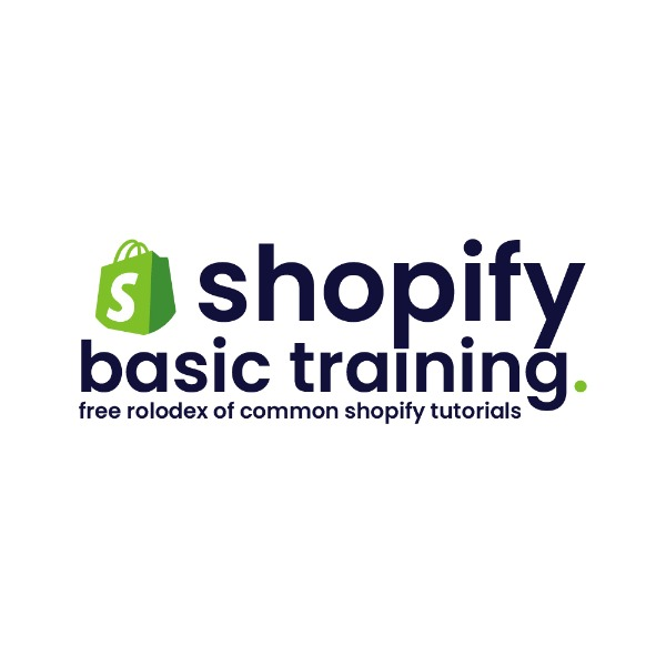 Shopify Basic Training