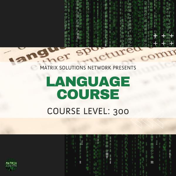 CRS: Advanced Language