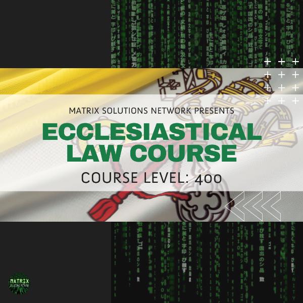 CRS: Ecclesiastical Law